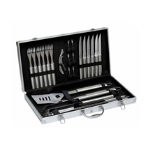 Stainless Steel BBQ Tool Set 27 Pieces in carry case
