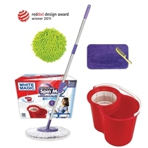 White Magic Microfibre Spin Mop