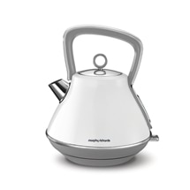 Morphy Richards Evoke Kettle Pyramid Kettle White