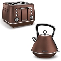 Morphy Richards Evoke Pyramid Kettle & Toaster Set Bronze