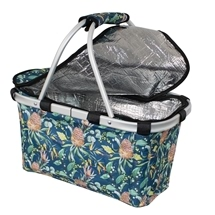 Karlstert Insulated Carry Basket with Zip Lid Natives