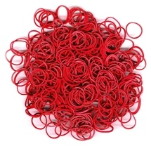 Mixed Stretch Band Bracelet Loops Red 500 pc