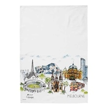 Ashdene Cityscapes Melbourne Kitchen Towel