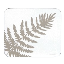 Ashdene Abode Fern White 4pk Cork Backed Coaster