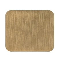 Ashdene Abode Gold Texture 4pk Cork Backed Coaster