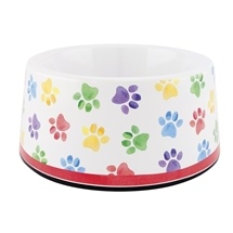 Ashdene Paw Prints Small Pet Cat Dog Bowl