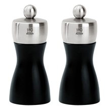 Peugeot Fidji Salt & Pepper Mill Set Black 12cm