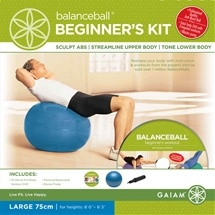 Gaiam Balance Ball Beginner Kit with pump Large 75cm