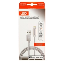 High Speed Charging Lightning to USB Cable Braided 2M