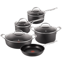Tefal Jamie Oliver Hard Anodised 5Pc Cookware Set with Pot Roast