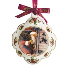 Old Country Roses Christmas Porcelain Decorations