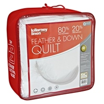KILLARNEY 20% White Duck Down & 80% Feather Quilt Queen Bed