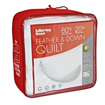 KILLARNEY 20% White Duck Down & 80% Feather Quilt King Bed