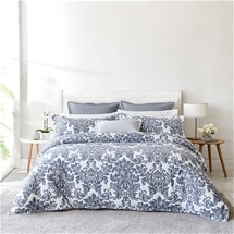Ultima Riviera Denim Quilt Cover Set QUEEN