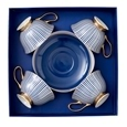 Ashdene Parisienne Navy Cup & Saucer Set Of 4_517645_0