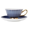Ashdene Parisienne Navy Cup & Saucer Set Of 4_517645_2