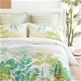 Lorne Green Palms Quilt Cover Set By Logan and Mason Platinum Collection_LEAFY_1